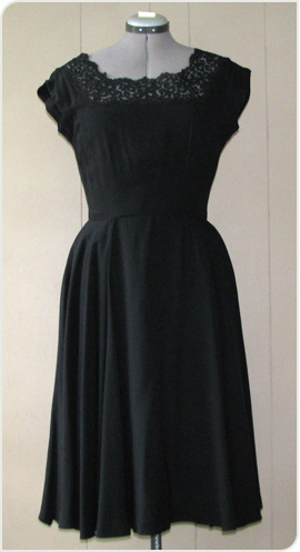 black lace dress from Reware Vintage