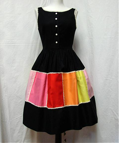 multicolor pockets dress
