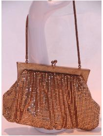 Whiting and Davis gold mesh bag