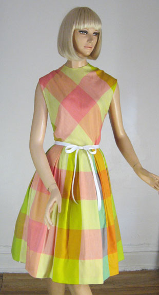 Sherbet plaid dress