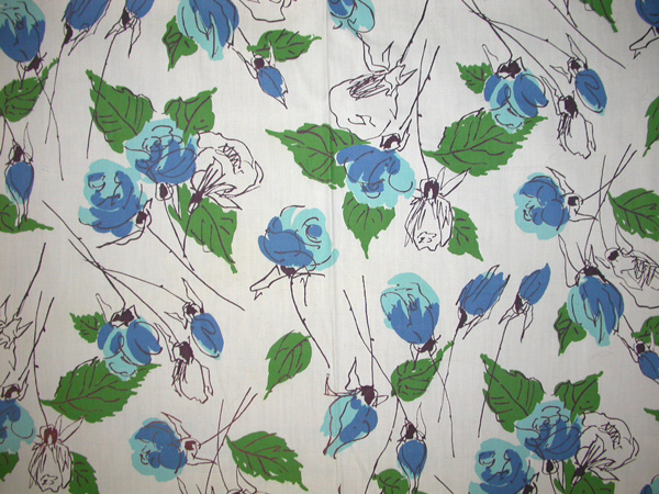 blue roses fabric