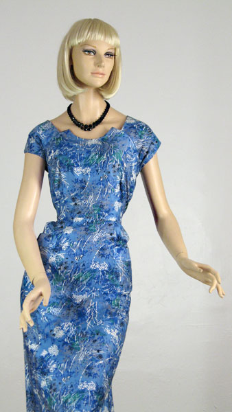 Lucite Box Vintage splatter-print dress