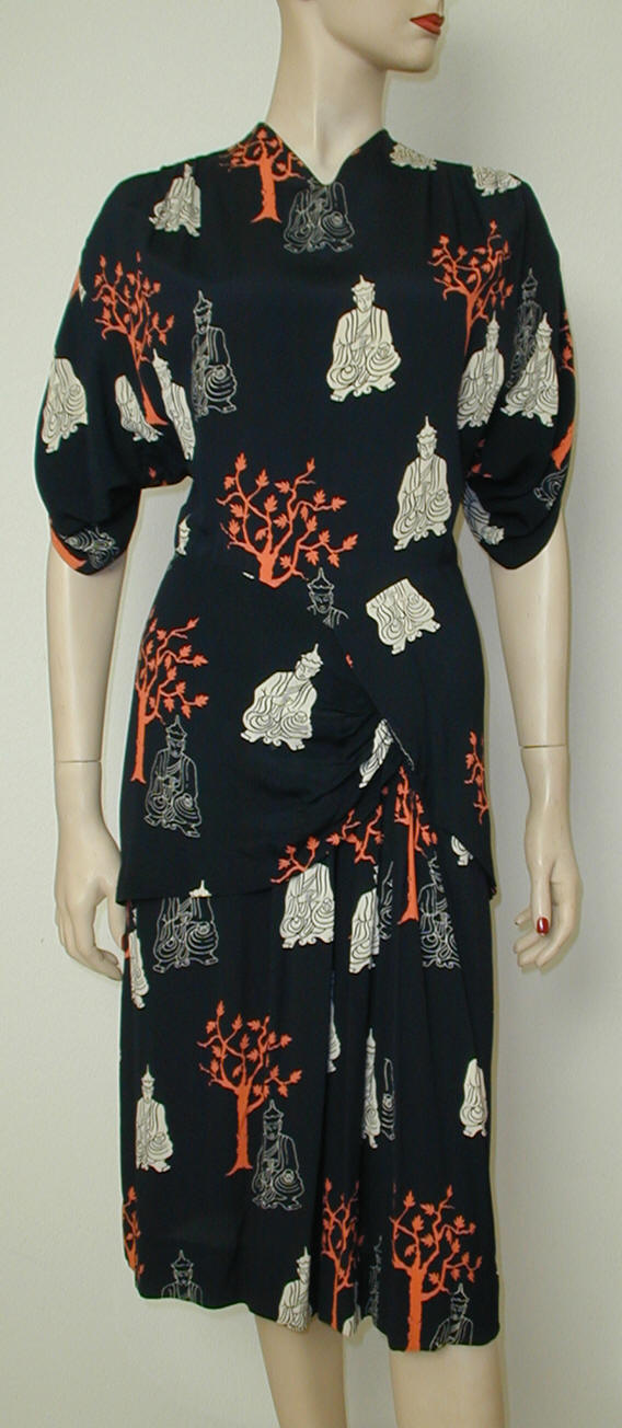 Buddha-print dress