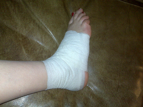 taped ankle