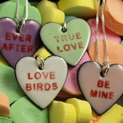 Custom Candy Hearts necklace